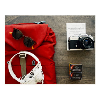 young traveler packing collection item postcard