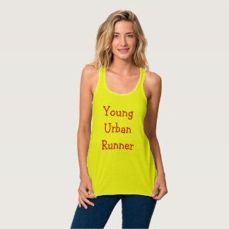 Young urban runner flowy racerback tank top
