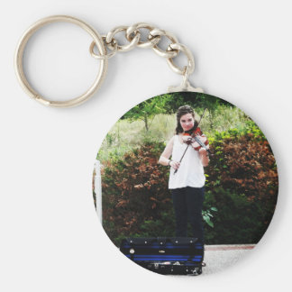 Young Violinist Keychain