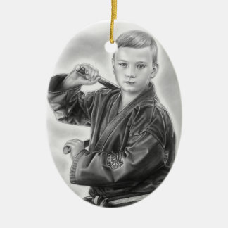 Young Warrior Christmas Ornament