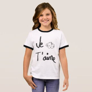 Young, white and black t-shirt, the world of Lua Ringer T-Shirt