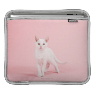 Young white cat iPad sleeve