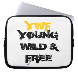 YOUNG WILD AND FREE LAPTOP SLEEVE YWF