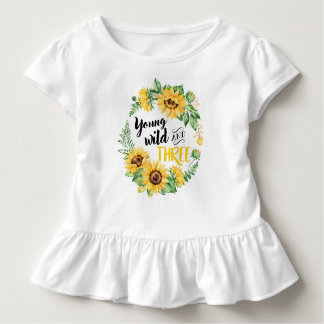 Young Wild and Three Sunflower T-shirt
