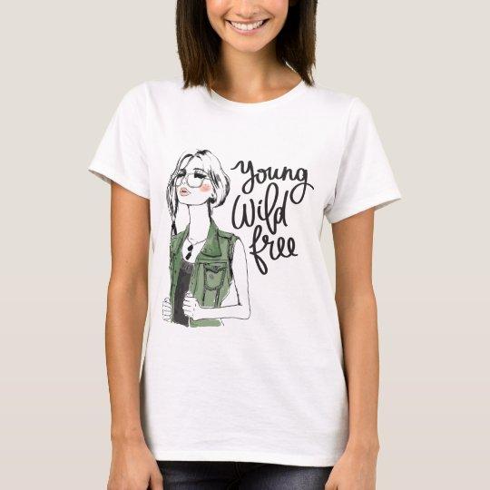 """Young Wild Free"" Stylish Women's T-Shirt"