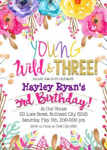 3rd birthday invitations zazzle uk