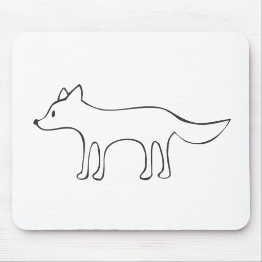 Young Wolf in Black and White Sketch Mouse Pad