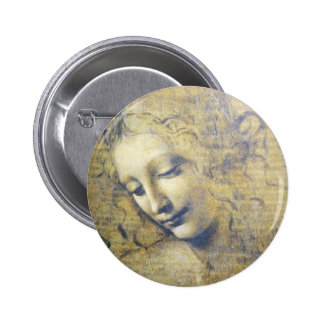 young woman 2 6 cm round badge