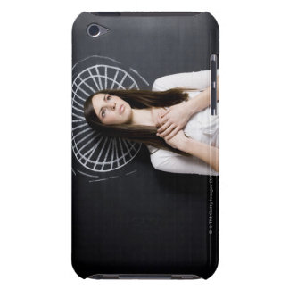 young woman against a chalkboard iPod Case-Mate cases