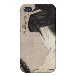 Young woman applying make-up, c.1795-96 iPhone 4 cases