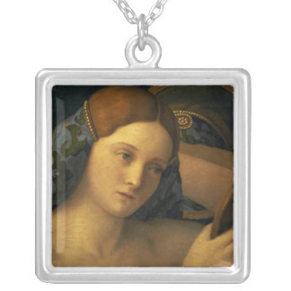Young Woman at her Toilet Silver Plated Necklace