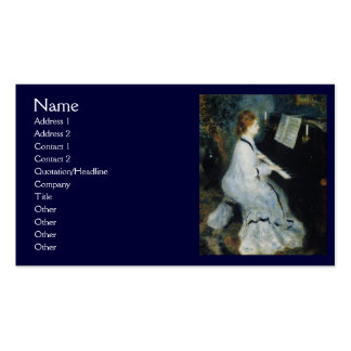 Young Woman at the Piano by Renoir Pack Of Standard Business Cards