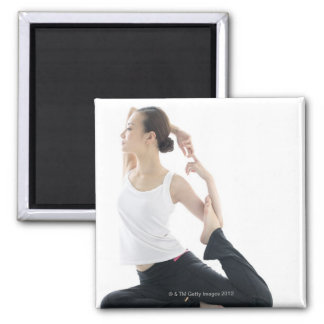 young woman beauty,yoga 2 magnet