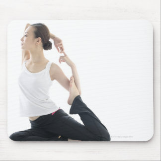 young woman beauty,yoga 2 mouse mat