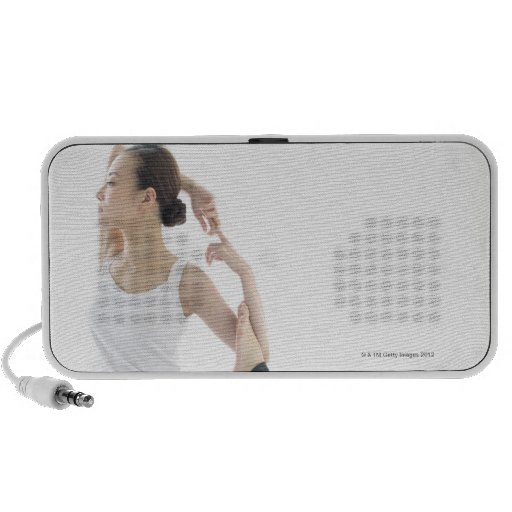 young woman beauty,yoga 2 iPhone speaker