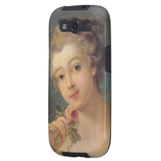 Young Woman Bouquet of Roses by Francois Boucher Galaxy S3 Cases
