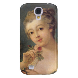 Young Woman Bouquet of Roses by Francois Boucher Samsung Galaxy S4 Covers