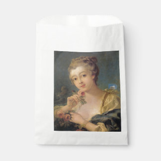 Young Woman Bouquet of Roses by Francois Boucher Favour Bags