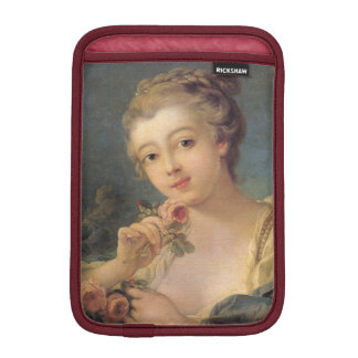 Young Woman Bouquet of Roses by Francois Boucher iPad Mini Sleeve