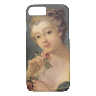 Young Woman Bouquet of Roses by Francois Boucher iPhone 7 Case