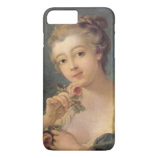 Young Woman Bouquet of Roses by Francois Boucher iPhone 7 Plus Case