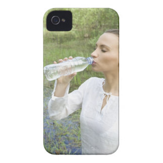 young woman drinking water from bottle iPhone 4 Case-Mate case