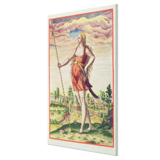 Young Woman from a Neighbouring Tribe to the Canvas Print