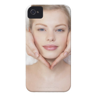 Young woman getting massage iPhone 4 cases