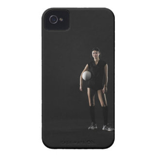Young woman holding volleyball, portrait iPhone 4 Case-Mate case