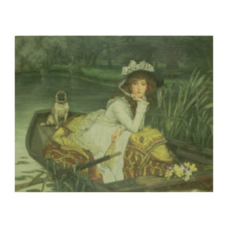 Young Woman in a Boat, or Reflections, c.1870 (oil Wood Wall Art