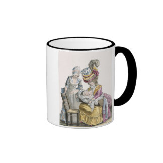 Young Woman in a Dress 'a la Levite' Breastfeeding Ringer Mug