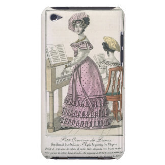 Young Woman in a Pink Organdie Dress Trimmed with Barely There iPod Cases