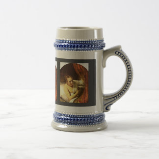 Young Woman In Bed (Possibly Geertje) By Rembrandt Mug