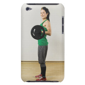 Young woman lifting a barbell. iPod Case-Mate cases