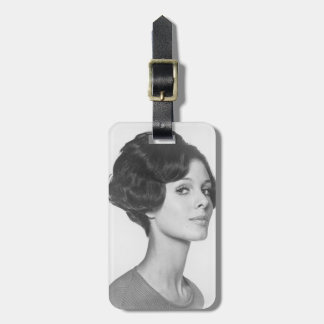 Young Woman Luggage Tag