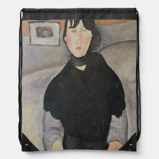Young Woman of the People Drawstring Bag