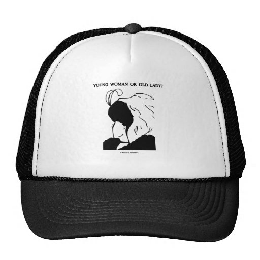 Young Woman Or Old Lady? (Optical Illusion) Hats