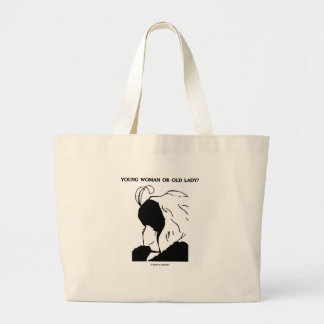 Young Woman Or Old Lady? (Optical Illusion) Large Tote Bag
