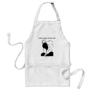 Young Woman Or Old Lady? (Optical Illusion) Standard Apron
