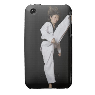 Young woman performing front kick Case-Mate iPhone 3 cases