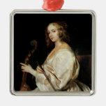 Young Woman Playing a Viola da Gamba Ornament