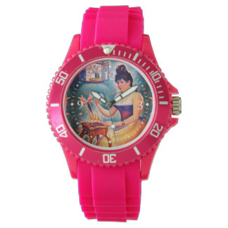 Young Woman Powdering Herself Watch