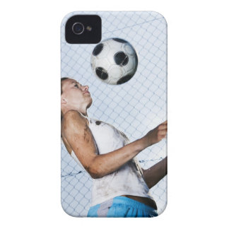 young woman practising with football Case-Mate iPhone 4 case