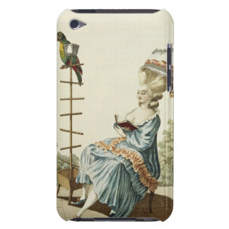Young woman reading in a day dress with an elabora iPod Case-Mate case