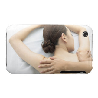 young woman receiving massage,woman in health 2 iPhone 3 cases