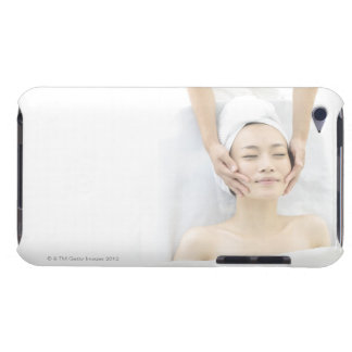 young woman receiving massage,woman in health iPod touch cases