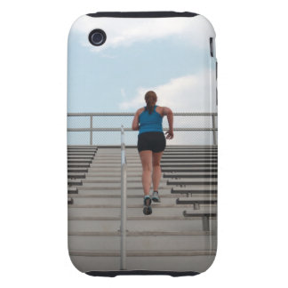 young woman running up steps iPhone 3 tough covers