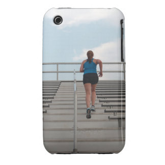 young woman running up steps iPhone 3 Case-Mate cases