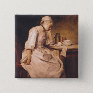 Young Woman Sleeping 15 Cm Square Badge