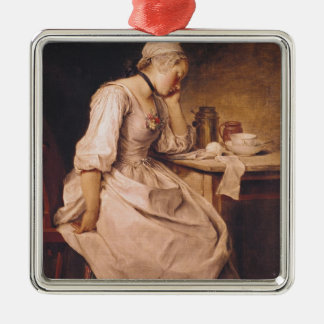 Young Woman Sleeping Christmas Ornament